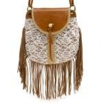 [grlhx120053]Cool Lace Fashion Tassels Shoulder Bag