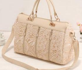 [grd03060]Nice Unique White Lace Handbag Shoulder Bag