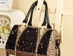 [grdx02003]Cool Leopard Shiny Sparking Handbag Shoulder Bag