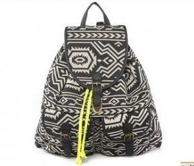 [grlhx120022]Retro Geometric Figure Backpack Bag