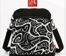 [grlhx120030] Black and White Totem Shoulder bag