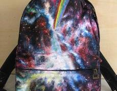 [grlhx120035 ] Unique Shiny Sky World Backpack Bag