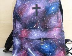 [grlhx120040]Unique Sparking The Universe The cross Backpack Bag