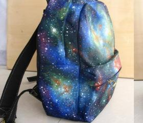 [grlhx120041]Unique Shiny Sky World Backpack bag