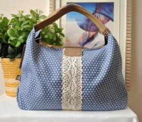 [grlhx120052]Cool Wave point Lace Shoulder bag Handbag