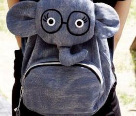 [grd03097]Cute Cartoon Elephant backpack Bag