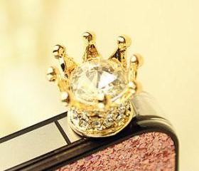 [grlhx110053]Shiny Rhinestone Anti dust Plug For Iphone 4/4s/5