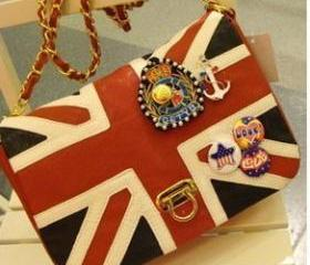 [grdx01077]Fashion Flag Bag Sailor Anchor Medal Bag
